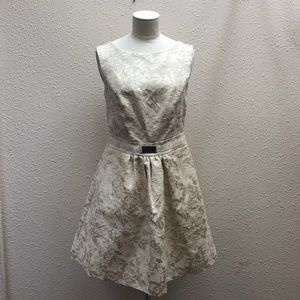 Jennifer Lopez floral cream dress size 6